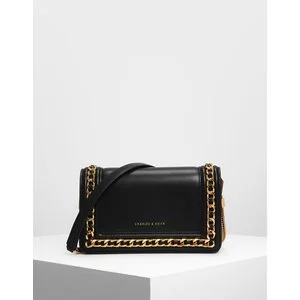 Chain Rimmed Clutch