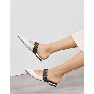 Studded Buckle Slip-Ons