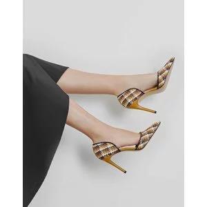 Raffia D'Orsay Heels