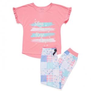 GIRLS' SLEEP, DREAM, RISE PJ PANTS SET (XS-XL)