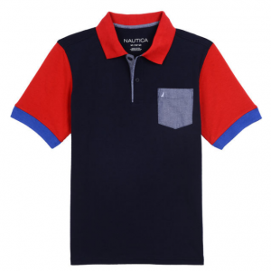 BOYS' HARRY POCKET BACK GRAPHIC HERITAGE POLO (8-20)