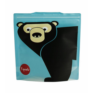 3 Sprouts Sandwich Bag, 2 Pack - Bear