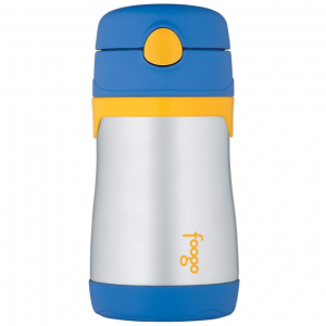 Foogo by Thermos Vacuum Insulated Straw Bottle - Blue - 10 oz