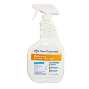 Clorox Broad Spectrum Quaternary Disinfectant Cleaner, Spray, 32 Ounces (30649)