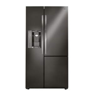 LG - 26 cu. ft. Side-by-Side Refrigerator with Door-in-Door - LSXS26366D Black Stainless Steel
