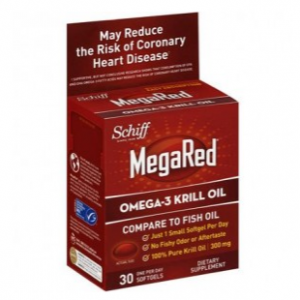 Megared Omega-3 Krill Oil Supplement, 300mg, 4 fluid oz, 30 Softgels