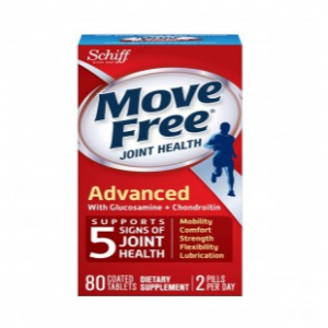 Schiff Move Free Glucosamine Chondroitin, Triple Strength, Coated Tablets, 80 tablets