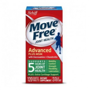 Schiff Move Free Joint Health Advanced Plus MSM with Glucosamine + Chondroitin, 120 Coated Tablets