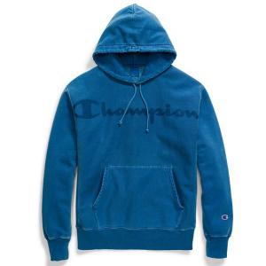 Champion Life® Men's Garment Dyed Reverse Weave® Hood, Clear Gel Logo