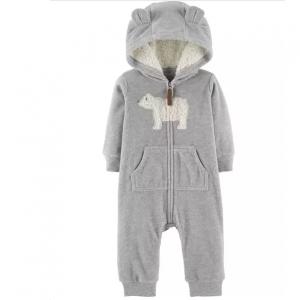 Carter's Zip-Up Polar Bear Hooded Jumpsuit