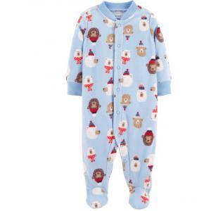 Carter's Christmas Snap-Up Fleece Sleep & Play