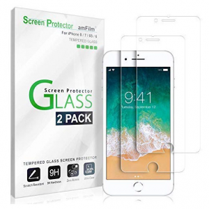 amFilm iPhone Xs Max / 8 Plus / 8 Glass Screen Protectors @ Amazon