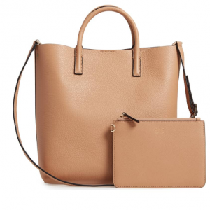 OAD New York Tall Carryall Pebbled Leather Tote