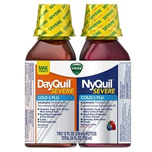 Vicks NyQuil and DayQuil SEVERE Cough, Cold & Flu Relief Liquid