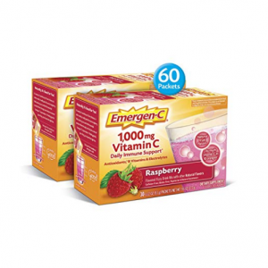 Emergen-C (60 Count, Raspberry Flavor, 2 Month Supply)