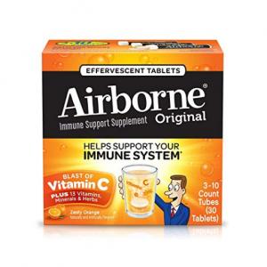 $9.74 for Vitamin C 1000mg - Airborne Zesty Orange Effervescent Tablets, 30 count