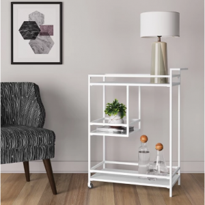 Glasgow Metal Bar Cart White - Project 62