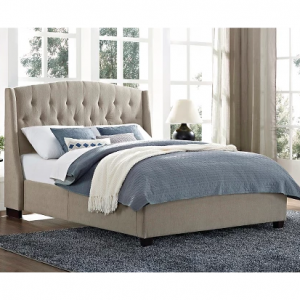 Tufted Wingback Upholstered Bed (Queen) - Dorel Living