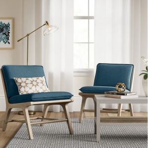 Lincoln Cane Chair with Upholstered Seat - Turquoise - Threshold