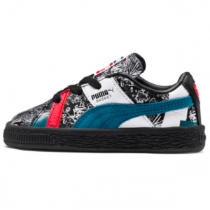 PUMA x Shantell Martin Basket Graphic Preschool Sneakers