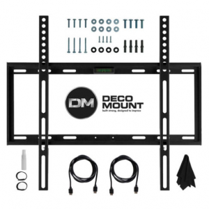 Deco Mount Flat Wall Mount Kit Ultimate Bundle for 45-90 inch TVs @ Buydig
