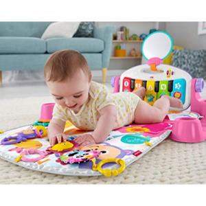 【Amazon】精选 Fisher-Price 0-6个月宝宝经典益智玩具,收带音乐钢琴的游戏毯