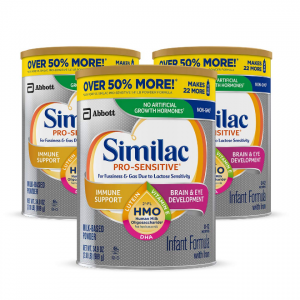 Similac Pro-Sensitive Non-GMO Infant Formula with Iron, with 2'-FL HMO, for Immune Support, Baby F