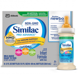 Similac Pro-Advance Infant Formula with 2'-FL HMO for Immune Support, Ready to Feed Newborn Bottle