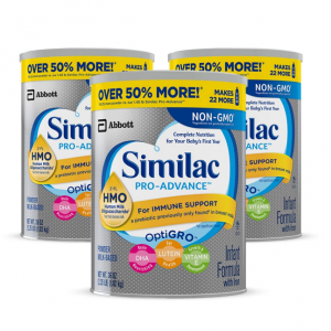 40% off + extra 5% off Similac Pro-Advance Non-GMO infant formula @ Amazon