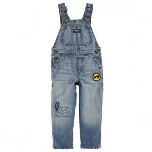 Emoji Patch Denim Overalls