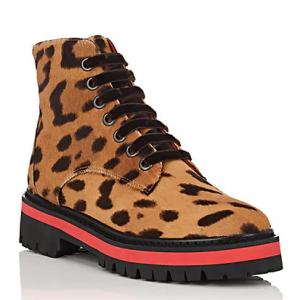 MR & MRS ITALY Leopard-Print Calf Hair Ankle Boots