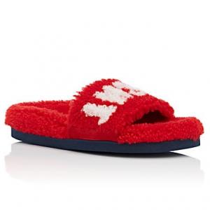 MR & MRS ITALY Shearling Slide Sandals