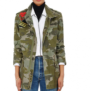 MR & MRS ITALY Camouflage Cotton Canvas Field Jacket