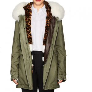 MR & MRS ITALY Fur-Trimmed & -Lined Cotton Midi-Parka