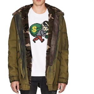MR & MRS ITALY Fur-Lined Camouflage Cotton Parka