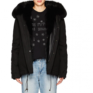 MR & MRS ITALY Fur-Trimmed & -Lined Hooded Mini-Parka