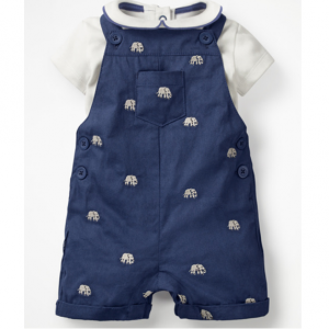 OVERALL AND BODYSUIT SET