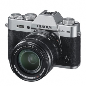 Fujifilm X-T30 Mirrorless Camera with XF 18-55mm f/2.8-4 R LM OIS Lens - Silver