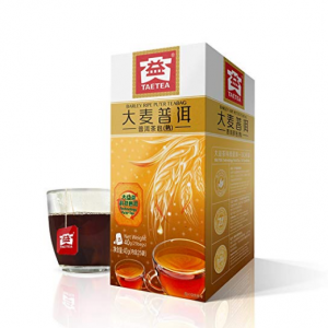 TAE TEA Tea Bags PU'ER Ripe TEA (Barley) Organic Black Tea 25 Bags(1.6 grams per serving)