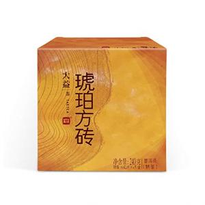 TAETEA Amber PU'ER TEA Organic Black Tea Brick Ripe Tea 4 Packs