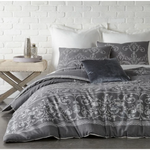 Dark Gray Vintage Gate Duvet Cover Set (King) 3pc - The Industrial Shop