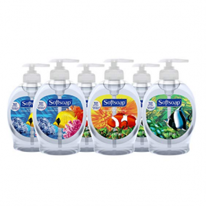 $5.64 Softsoap Liquid Hand Soap, Aquarium - 7.5 fluid ounce (Pack of 6) @ Amazon