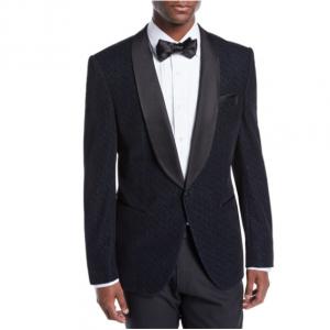 BOSS Men's Herringbone Shawl-Collar Tuxedo Jacket