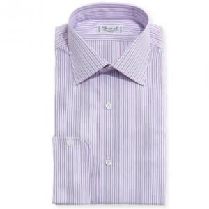 Charvet Striped Dress Shirt, Pink/Lavender