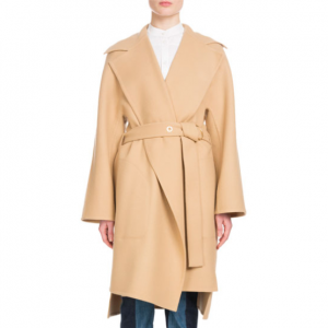 Chloe Notched-Collar Belted Wool-Blend Coat