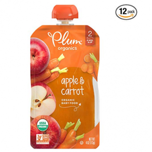 Plum Organics Stage 2, Organic Baby Food, Apple and Carrot