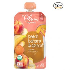 Plum Organics Stage 2, Organic Baby Food, Peach, Banana and Apricot