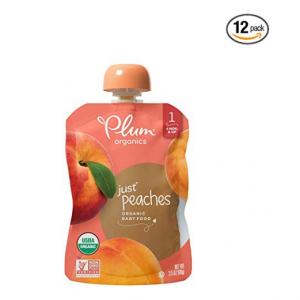 Plum Organics Stage 1, Organic Baby Food, Just Peaches