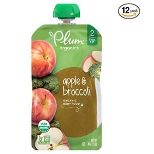 Plum Organics Stage 2, Organic Baby Food, Apple and Broccoli