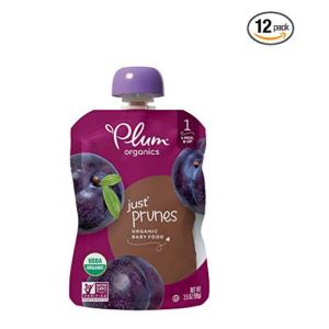 Plum Organics Stage 1, Organic Baby Food, Just Prunes